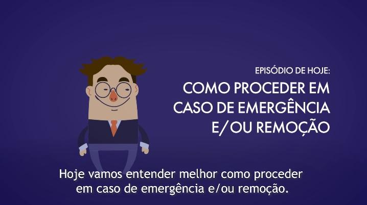 É muito importante saber como agir em situações de emergência. Clique no vídeo e fique por dentro de como proceder em caso de remoção.