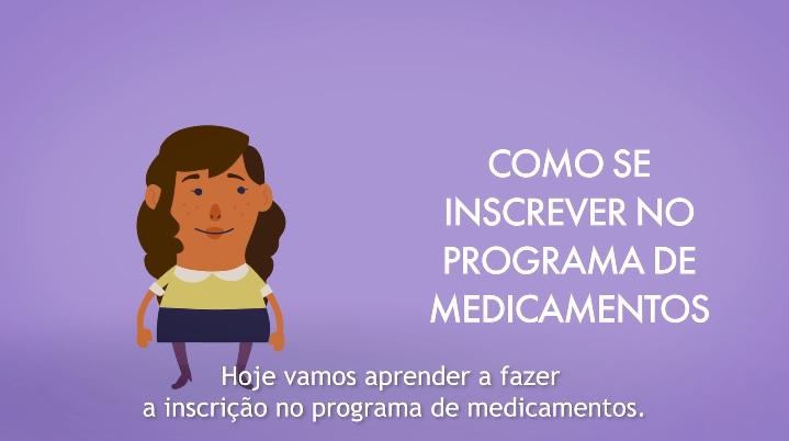 Assista ao vídeo e descubra como é simples se inscrever no Programa de Medicamentos do Saúde Caixa.