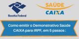Demonstrativo Saúde CAIXA - IRPF